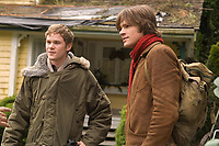 Thomas Kinkade's Home for Christmas (2008)<br /> Aaron Ashmore &amp; Jared Padalecki<br /> *Filmstill - Editorial Use Only*<br /> CAP/KFS<br /> Image supplied by Capital Pictures