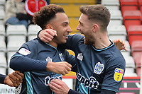 Nicky Maynard of Bury scores the first Goal and celebrates with Jay O'Shea of Bury during Stevenage vs Bury, Sky Bet EFL League 2 Football at the Lamex Stadium on 9th March 2019