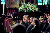 Montreal. CANADA -   May 31, 2000    File Photo  - Jean Chretien, Lucien Bouchard, Pierre Bourque attend <br />  the funerals of hockey player Maurice Richard  celebrated by Jean-Claude Turcotte  at Notre-Dame Basilica,<br /> <br /> File Photo : Agence Quebec Pressse - Pierre Roussel