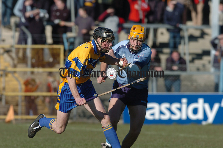 Colm Forde in possession against Dublin during the national league game in Cusack park. Photograph by John Kelly.