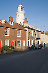 Sole Bay Inn pub, cottages and lighthouse at Southwold, Suffolk, England