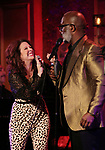 "Kirsten Wyatt and BeBe Winans on stage during a Song preview performance of the BeBe Winans Broadway Bound Musical ""Born For This"" at Feinstein's 54 Below on November 5, 2018 in New York City."