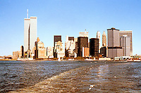 N.Y. : Lower Manhattan--Skyline from Ferry.
