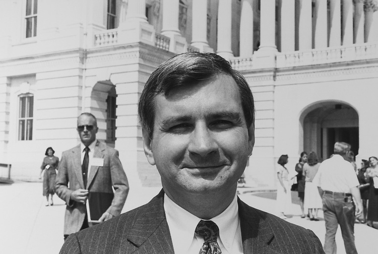 Sen. Jack Reed, D-R.I., on the Capitol Hill, on Sep. 16, 1991. (Photo by Chris Ayers/CQ Roll Call via Getty Images)