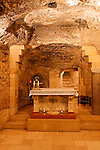 Israel, the Lower Galilee. The Grotto of the Annunciation at the Church of the Annunciation in Nazareth
