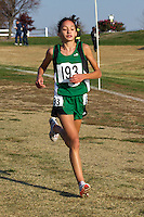 Ste. Genevieve's Taylor Werner runs to victory in the Class 3 Girls race at the Missouri State Cross Country Championships, Saturday, November 3. Werner finished in 18:19 to help lead the Hunters to the State title.