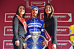 Julian Alaphilippe (FRA) Deceuninck-Quick Step wins the Strade Bianche 2019 running 184km from Siena to Siena, held over the white gravel roads of Tuscany, Italy. 9th March 2019.<br /> Picture: LaPresse/Gian Matteo D'Alberto | Cyclefile<br /> <br /> <br /> All photos usage must carry mandatory copyright credit (© Cyclefile | LaPresse/Gian Matteo D'Alberto)