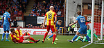 Kris Doolan stabs the second goal in for Partick Thistle