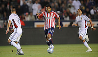 Chivas USA's (11) Javier Morales makes his way through the Real Salt Lake defense in the second half at the Home Depot Center in Carson, CA on Saturday, May 9, 2009..