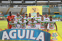 NEIVA - COLOMBIA, 01-09-2018: Jugadores del Huila posan para una foto previo al partido entre Atlético Huila y Leones F.C. por la fecha 7 de la Liga Águila II 2018 jugado en el estadio Guillermo Plazas Alcid de la ciudad de Neiva. / Players of Huila pose to a photo prior the match between Atletico Huila and Leones F.C. for the date 7 of the Aguila League II 2018 played at Guillermo Plazas Alcid in Neiva city. VizzorImage / Sergio Reyes / Cont
