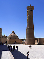 Alim-Khan-Medrese und Kalon Minarett, Buchara, Usbekistan, Asien, UNESCO-Weltkulturerbe<br />
