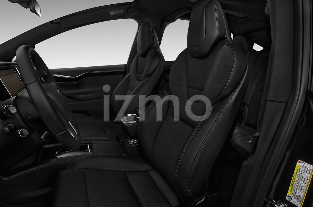 Front seat view of 2017 Tesla Model-X 75D 5 Door SUV Front Seat  car photos