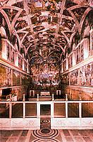Vatican:  Sistene Chapel--general view.