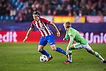 Filipe Luis of Atletico de Madrid competes for the ball with Oleksandr Zinchenko of PSV Eindhoven during their 2016-17 UEFA Champions League match between Atletico de Madrid and PSV Eindhoven at the Vicente Calderón Stadium on 23 November 2016 in Madrid, Spain. Photo by Diego Gonzalez Souto / Power Sport Images