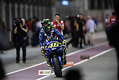 18th March 2018, Losail International Circuit, Lusail, Qatar; Qatar Motorcycle Grand Prix, Sunday race day; Valentino Rossi (Movistar Yamaha)as he finished 3rd in the MotoGP