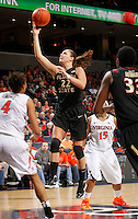 Florida State Seminoles guard Olivia Bresnahan (22) grabs a rebound during the game against Virginia Jan. 12, 2012 in Charlottesville, Va.  Virginia defeated Florida State 62-52.