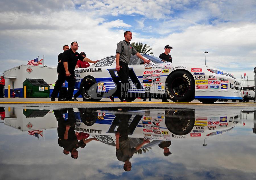Feb 4, 2010; Daytona Beach, FL, USA; ARCA RE/MAX Series driver Craig Goess during practice for the Lucas Oil Slick Mist 200 at Daytona International Speedway. Mandatory Credit: Mark J. Rebilas-