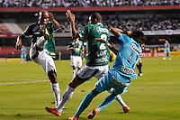SÃO PAULO, SP, 06 DE MAIO DE 2012 - FINAL DO CAMPEONATO PAULISTA - GUARANI x SANTOS: Neymar (d) e Domingos (e) durante partida Guarani x Santos, primeira partida da final do Campeonato Paulista no Estádio do Morumbi. FOTO: LEVI BIANCO - BRAZIL PHOTO PRESS