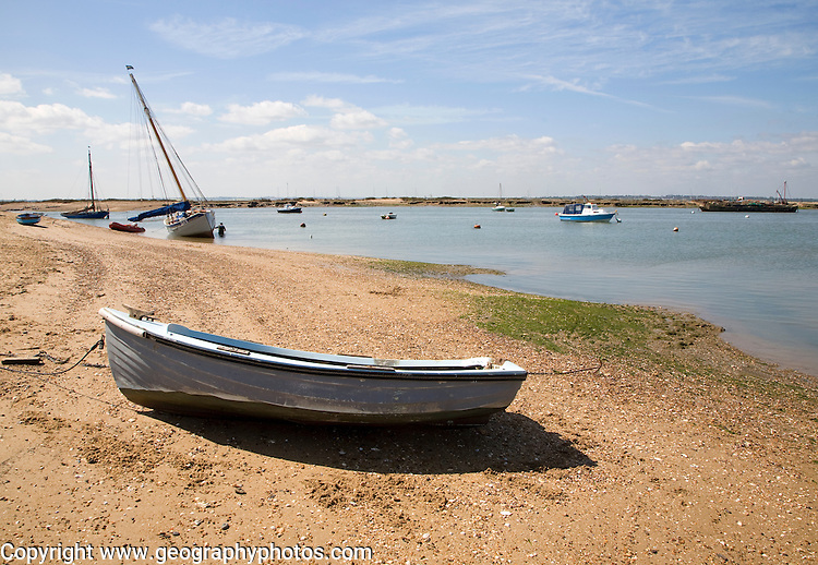 Boast on the River Blackwater estuary, West Mersea, Mersea Island, Essex, England