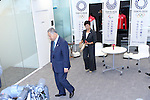 New Tokyo Governor Yuriko Koike, right, meets with Yoshiro Mori, head of the 2020 Tokyo Olympics organising committee in Tokyo, Japan on August 9, 2016. The two agreed that they will work closely to deliver a successful Tokyo Olympics and Paralympics in 2020. (Photo by AFLO SPORT)