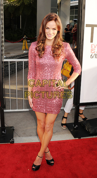 Kelley Overton.'True Blood' Season 5 Los Angeles Premiere at ArcLight Cinemas Cinerama Dome, Hollywood, California, USA..May 30th, 2012.full length pink dress hand on hip sparkly .CAP/ROT/TM.© TM/Roth/Capital Pictures
