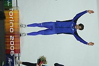 SPEEDSKATING: TORINO: ITALIA: febr. 2006, Olympic Games, winnaar 1500m 1:45.97 Enrico Fabris (ITA), ©photo Martin de Jong