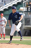 July 11, 2010: Everett AquaSox pitcher Willy Kesler (35) during a Northwest League game against the Spokane Indians at Everett Memorial Stadium in Everett, Washington.