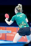 Bronze medal Match, Women's Singles Class 10, Melissa Tapper (AUS) vs Lei Fan (CHN) London Paralympic Games - Table Tennis Finals 3.9.12..Fan won 3 - 2 to take bronze