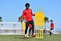 Lakewood Ranch, FL - Sunday Jan. 07, 2018: Aboubacar Keita during an U-19 USMNT training session at Premier Sports Campus in Lakewood Ranch, FL.