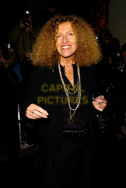 NICOLE FARHI.The Donna Karan Gold Fragrance Collection Launch, Donna Karan, New Bond Street, London, UK..November 16th, 2006.Ref: CAN.half length black jacket necklaces.www.capitalpictures.com.sales@capitalpictures.com.©Can Nguyen/Capital Pictures