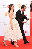 Anna Passey and Nick Pickard<br /> arriving for the BAFTA TV Awards 2018 at the Royal Festival Hall, London<br /> <br /> ©Ash Knotek  D3401  13/05/2018