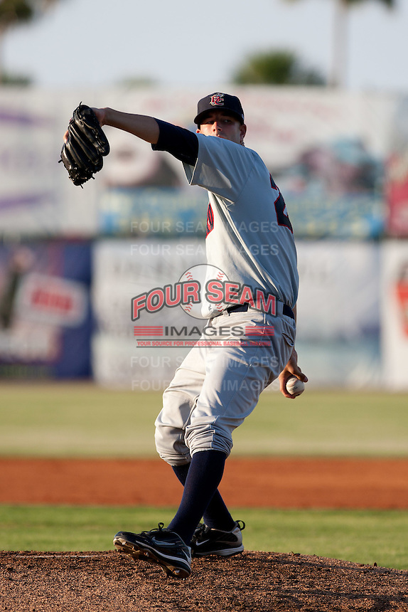 Michael Fiers (29) of the Brevard County Manatees during a game vs. the Daytona Cubs June 10 2010 at Jackie Robinson Ballpark in Daytona Beach, Florida. Brevard won the game against Daytona by the score of 12-8. Photo By Scott Jontes/Four Seam Images