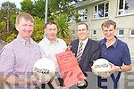 GYM FUNDS: Beaufort GAA Club officers who are organising a trip to the Killarney Lakes as a fundraiser for the new gym at the club headquarters, l-r: Dan Coffey (Committee), Pat Hartnett (Registrar), Padraig O'Sullivan (Treasurer), Ian Joy (Chairman).