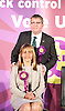 Pauline McQueen is the UKIP candidate for Weavers ward Bethnal Green in Tower Hamlets. Pictured during a UKIP rally in Westminster where party leader Nigel Farage addressed party members on race issues. on 7th May 2014 <br />