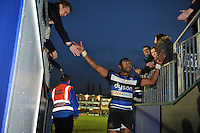 Semesa Rokoduguni of Bath Rugby leaves the field after the match. Aviva Premiership match, between Bath Rugby and Worcester Warriors on December 27, 2015 at the Recreation Ground in Bath, England. Photo by: Patrick Khachfe / Onside Images