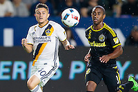Carson, CA - September 3, 2016: The LA Galaxy and Columbus Crew are all even 0-0 heading into half time in a Major League Soccer (MLS) match at StubHub Center.