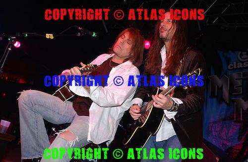 Don Dokken; Dokken; Reb Beach; 2005; VH1 Tour in New Jersey;<br /> Photo Credit: Eddie Malluk/Atlas Icons.com