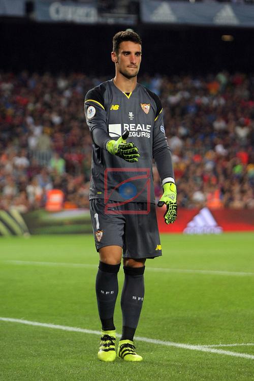 League Santander 2016/2017.<br /> Supercopa de Espa&ntilde;a - Vuelta.<br /> FC Barcelona vs Sevilla FC: 3-0.<br /> Sergio Rico.