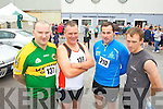 Pictured at the Carers 10k run on Sunday were l-r: Vincent Hillard (Annagh) with RIchard O'Toole, Christopher Smith and Maurice O'Connor (Castlegregory).