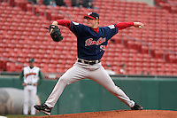 Pawtucket Red Sox Jon Lester during an International League game at Dunn Tire Park on May 17, 2006 in Buffalo, New York.  (Mike Janes/Four Seam Images)