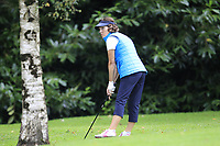 Brenda Hughes (Warrenpoint) during the final  of the Ulster Mixed Foursomes at Killymoon Golf Club, Belfast, Northern Ireland. 26/08/2017<br /> Picture: Fran Caffrey / Golffile<br /> <br /> All photo usage must carry mandatory copyright credit (&copy; Golffile   Fran Caffrey)