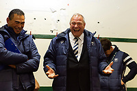 Bristol Bears Chairman Chris Booy speaks to the team in the changing rooms after the match. Gallagher Premiership match, between Leicester Tigers and Bristol Bears on April 27, 2019 at Welford Road in Leicester, England. Photo by: Patrick Khachfe / JMP