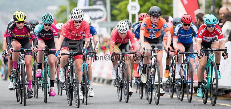Picture by Alex Whitehead/SWpix.com - 23/05/2017 - Cycling - Tour Series Round 7, Motherwell - Matrix Fitness Grand Prix - Team Breeze's Megan Barker.