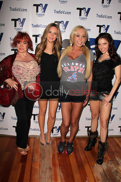 Kitten Natividad, Jessica Kinni, Mary Carey, Erika Jordan<br /> at &quot;Politically Naughty with Mary Carey,&quot; TradioV Studios, Los Angeles, CA 07-01-13<br /> David Edwards/DailyCeleb.Com 818-249-4998