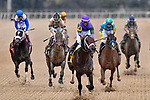 HOT SPRINGS, AR - MARCH 17: #4 Magnum Moon with jockey Luis Saez winningg race. Rebel Stakes at Oaklawn Park on March 17, 2018 in Hot Springs, Arkansas. (Photo by Ted McClenning/Eclipse Sportswire/Getty Images)
