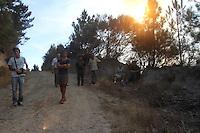 MARAO, PORTUGAL, 21.09.2013 - INCENDIO SERRA DO MARAO - Queimada de grande proporcao é vista na Serra do Marao em Portugal neste sábado, 21. (Foto: Raurino Monteiro / Brazil Photo Press).