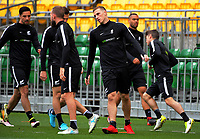 Chris Wood (centre). All Whites training for 2018 FIFA World Cup Russia qualifier against Peru at Westpac Stadium in Wellington, New Zealand on Friday, 10 November 2017. Photo: Dave Lintott / lintottphoto.co.nz