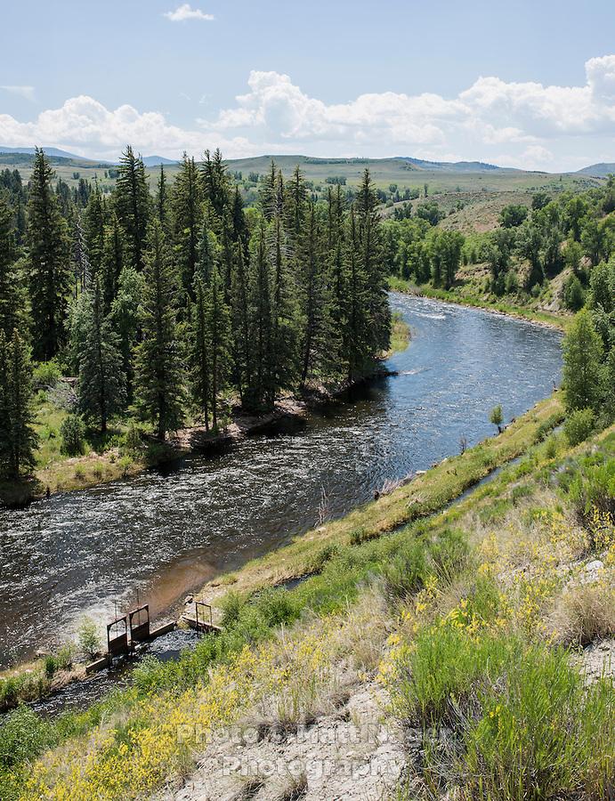 The Colorado River flows through Byers Canyon, Colorado, Monday, June 30, 2015. <br /> <br /> Photo by Matt Nager