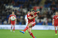 Hal Robson-Kanu of Wales shoots for goal during the Wales v Finland Vauxhall International friendly football match at the Cardiff City stadium, Cardiff, Wales. Photographer - Jeff Thomas Photography. Mob 07837 386244. All use of pictures are chargeable.