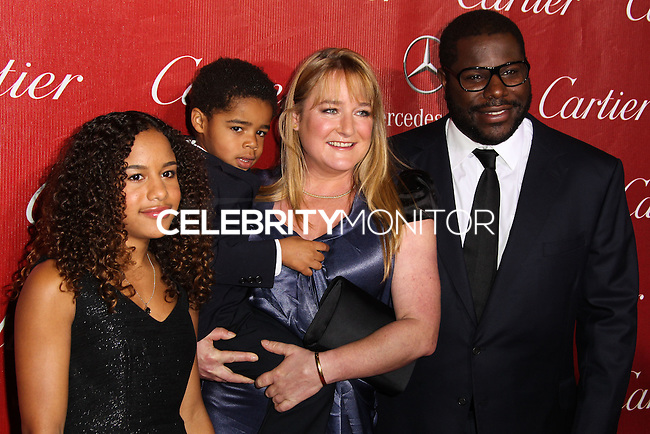 PALM SPRINGS, CA - JANUARY 04: Bianca Stigter, Dexter McQueen, Alex McQueen, Steve McQueen arriving at the 25th Annual Palm Springs International Film Festival Awards Gala held at Palm Springs Convention Center on January 4, 2014 in Palm Springs, California. (Photo by Xavier Collin/Celebrity Monitor)